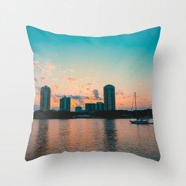 St. Pete Sunset Throw Pillow