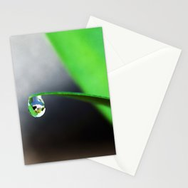 A Drop Of Dew   Watercolor Painting Stationery Cards