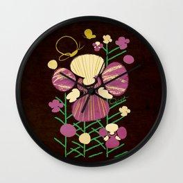 Floral Flower Artprint Wall Clock