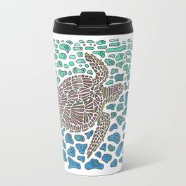 Vanishing Sea Turtle by Black Dwarf Designs Travel Mug