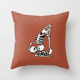 Skeleton Acroyoga Throw Pillow