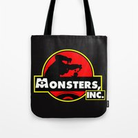 monsters inc Tote Bags featuring Monsters, Inc Logo.  by Gary Wood