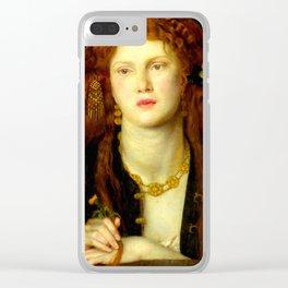 """Dante Gabriel Rossetti """"Bocca Baciata"""" Clear iPhone Case"""