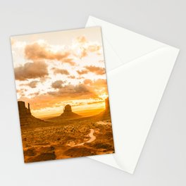 Southwest Wanderlust - Monument Valley Sunrise Nature Photography Stationery Cards