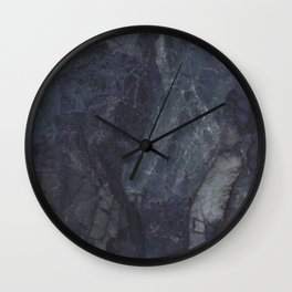 Navy Blue Marble Wall Clock