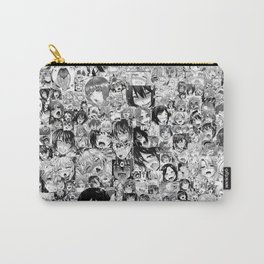 Ahegao Hentai Anime Faces Collage Carry-All Pouch
