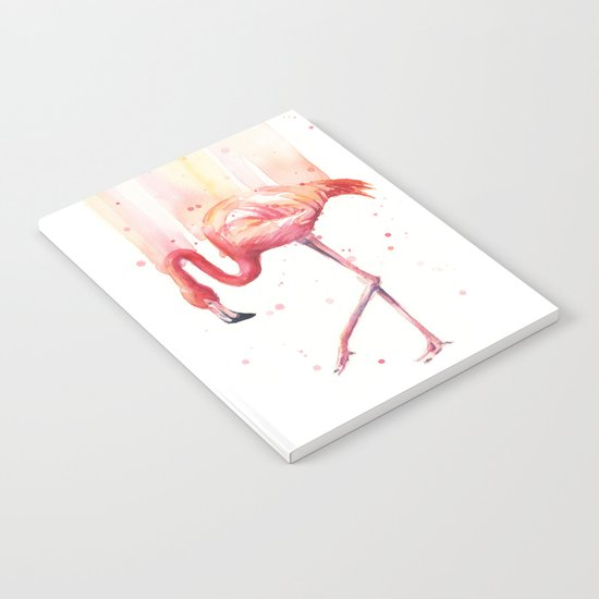 Pink Flamingo Watercolor | Pink Rain Notebook