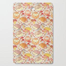 Woodland Hedgehogs - a pattern in soft neutrals  Cutting Board