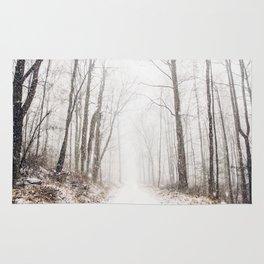 Winter path #photography #society6 Rug