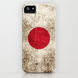 Vintage Aged and Scratched Japanese Flag iPhone Case