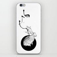 hare iPhone & iPod Skins featuring hare by Tom Kitchen