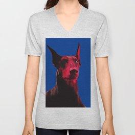 Majestic Doberman. Pop art dog. Unisex V-Neck