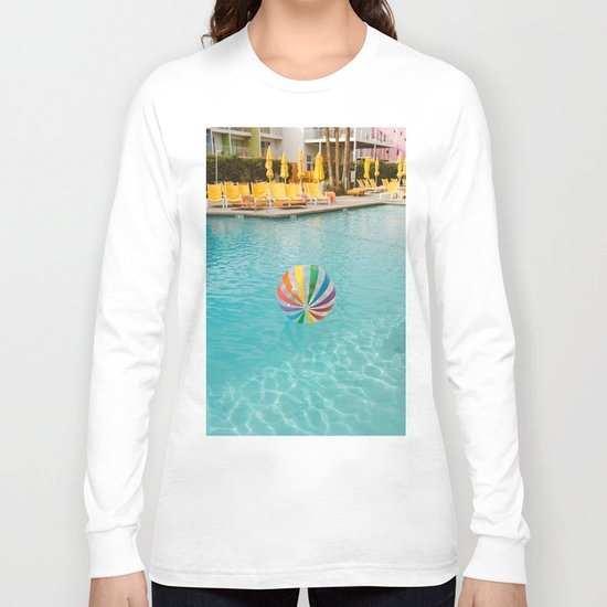 Palm Springs Pool Day Long Sleeve T-shirt