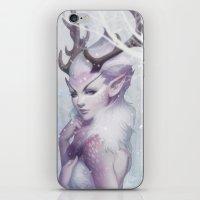 artgerm iPhone & iPod Skins featuring Reindeer Princess by Artgerm™
