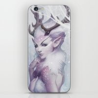 princess iPhone & iPod Skins featuring Reindeer Princess by Artgerm™