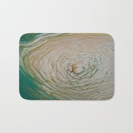Gold and White Rings Bath Mat