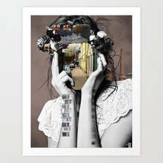Crazy Woman - Lara Lisa Bella Art Print
