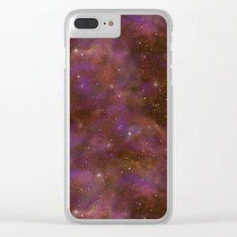 Celestial Nebula Clear iPhone Case