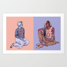 Gal Pals Art Print