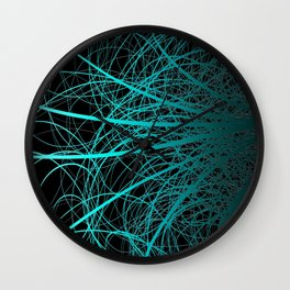 Linear Abstract2 - Blue Wall Clock