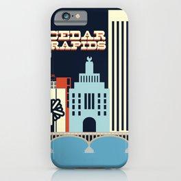 Cedar Rapids, Iowa Skyline iPhone Case