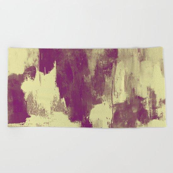 Textured Purple Beach Towel