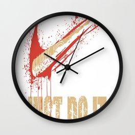 Just Do It Wall Clock