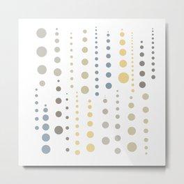 Earthen Color Drops 096 Metal Print