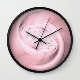 Rosey Stitch Wall Clock