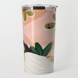Laying under the full moon Travel Mug