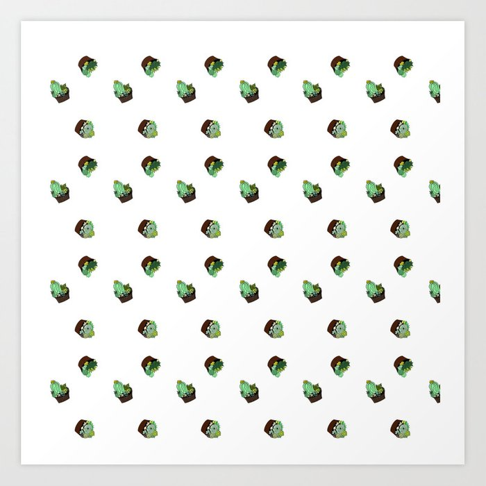 the pattern of cacti Art Print