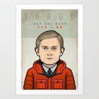 fargo Art Prints featuring Fargo by Mathieu Marcou