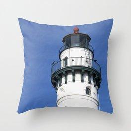 Wind Point Light Throw Pillow