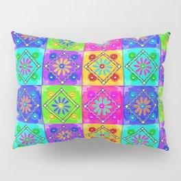 Boho Tapestry Tiles in India Silk Multi Pillow Sham