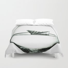 sea in the glass Duvet Cover