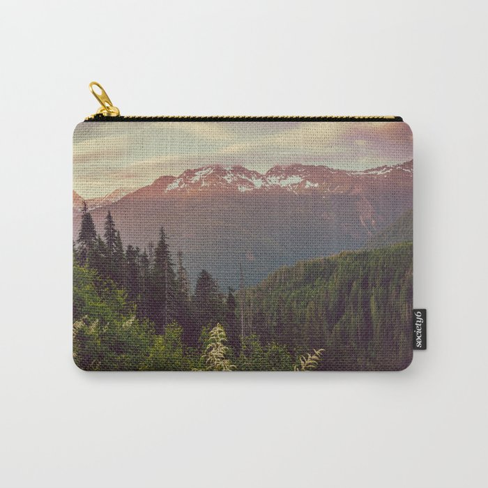Mountain Sunset Bliss - Nature Photography Carry-All Pouch