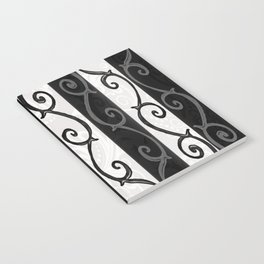 Burtonesque Stripes and Swirls.. Notebook