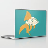 goldfish Laptop & iPad Skins featuring Goldfish by Julia Kisselmann