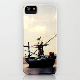 stranded fishing boat, thailand iPhone Case