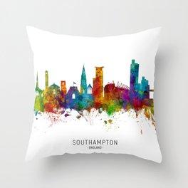 Southampton England Skyline Throw Pillow