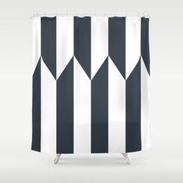 Navy arrows Shower Curtain