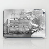 uncharted iPad Cases featuring Sailing uncharted waters by Sney1
