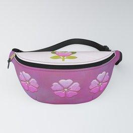Japanese Flower Jeweled Artwork Fanny Pack