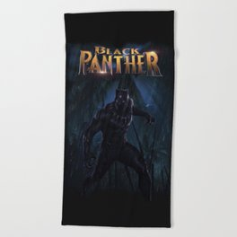 T'Challa , The Black Panther Beach Towel