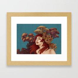 Mushroom Lady Framed Art Print