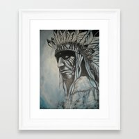 native american Framed Art Prints featuring Native American by Diablues Hands