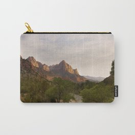 Virgin River and The Watchman at sunset. Carry-All Pouch