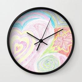 Cheery Pastels Wall Clock