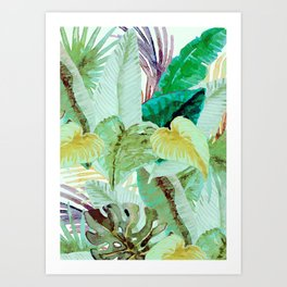 Tropical Leaves 3 Art Print