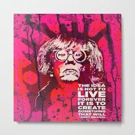 Pop-Art KING - Quote Metal Print